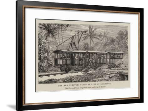 The New Electric Tram-Car Line at Singapore--Framed Art Print
