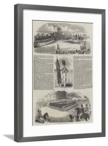 Review of the Grenadier Guards in Hyde Park--Framed Art Print