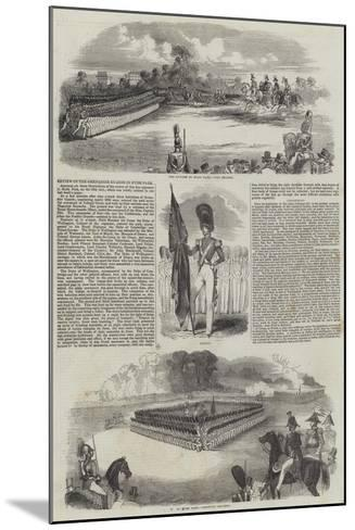 Review of the Grenadier Guards in Hyde Park--Mounted Giclee Print
