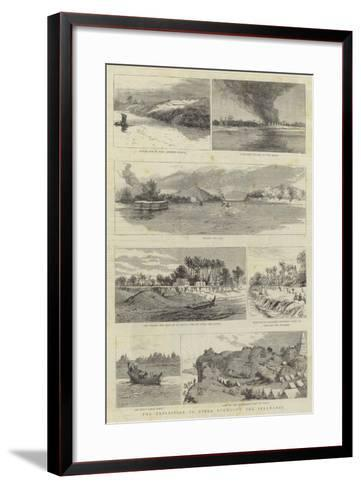 The Expedition to Upper Burma, Up the Irrawaddy--Framed Art Print