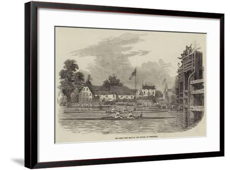 The Great Boat Race on the Thames, on Wednesday--Framed Art Print