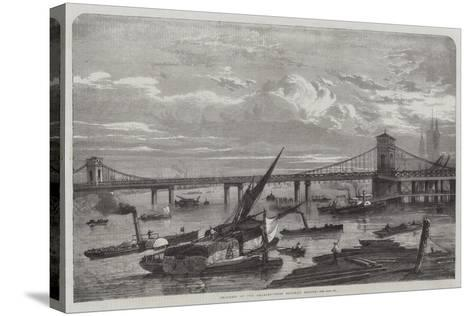 Progress of the Charing-Cross Railway Bridge--Stretched Canvas Print