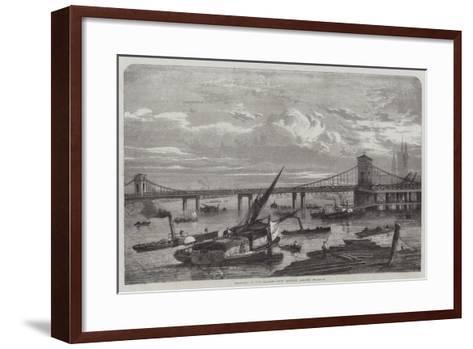 Progress of the Charing-Cross Railway Bridge--Framed Art Print