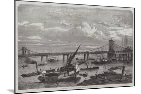 Progress of the Charing-Cross Railway Bridge--Mounted Giclee Print