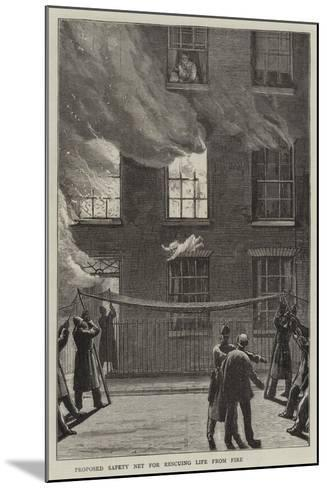 Proposed Safety Net for Rescuing Life from Fire--Mounted Giclee Print