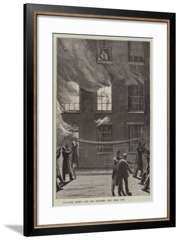Proposed Safety Net for Rescuing Life from Fire--Framed Art Print