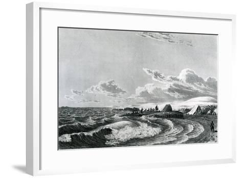 Expedition Encamped at Point Turnagain, 1823--Framed Art Print