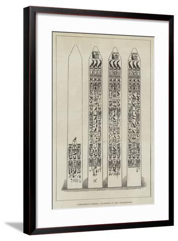 Cleopatra's Needle, Facsimile of the Inscriptions--Framed Art Print