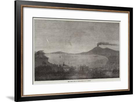 The Comet, Seen at Castellamare, Bay of Naples--Framed Art Print