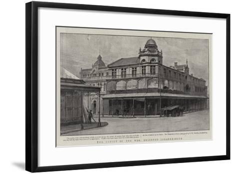 The Effect of the War, Deserted Johannesburg--Framed Art Print