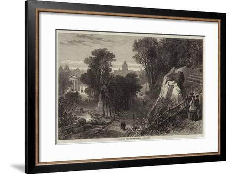 St Peter's, Rome, from the Borghese Villa Gardens--Framed Art Print