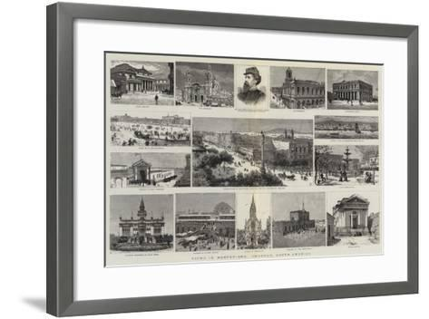 Views in Montevideo, Uruguay, South America--Framed Art Print