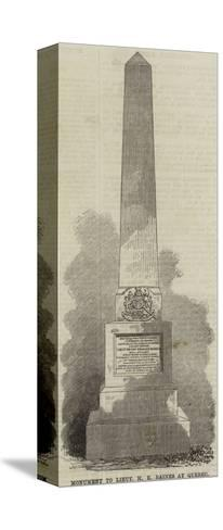 Monument to Lieutenant H E Baines at Quebec--Stretched Canvas Print