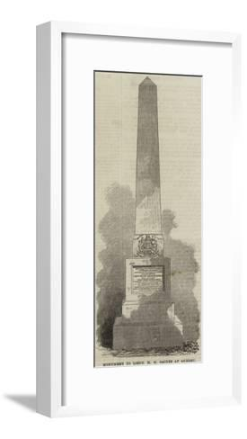 Monument to Lieutenant H E Baines at Quebec--Framed Art Print