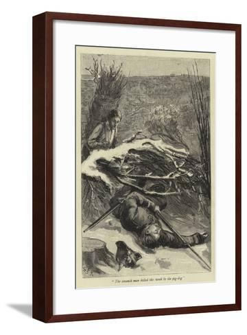 The Seventh Man Killed This Week by the Pig-Dog--Framed Art Print