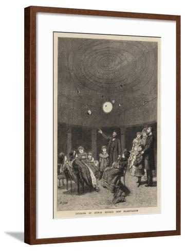 Interior of Signor Perini's New Planetarium--Framed Art Print