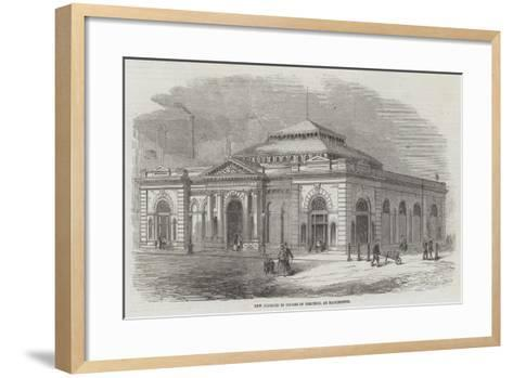 New Markets in Course of Erection, at Manchester--Framed Art Print