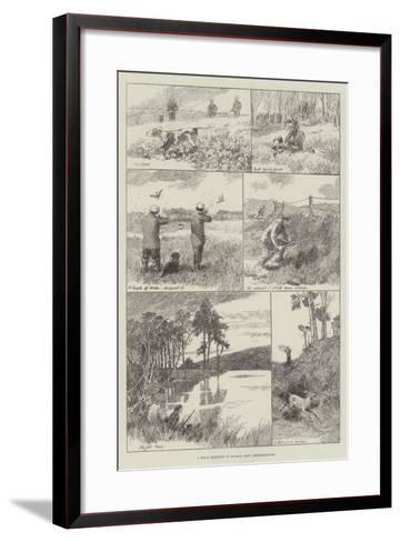 A Day's Shooting in Buchan, East Aberdeenshire--Framed Art Print