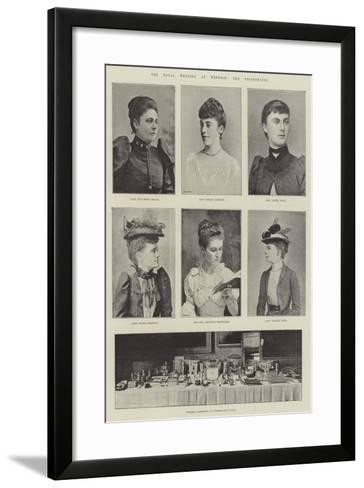 The Royal Wedding at Windsor, the Bridesmaids--Framed Art Print