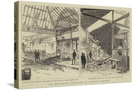 The Disastrous Explosion at Victoria Station--Stretched Canvas Print