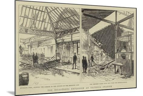 The Disastrous Explosion at Victoria Station--Mounted Giclee Print