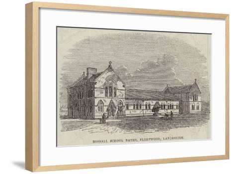 Rossall School Baths, Fleetwood, Lancashire--Framed Art Print