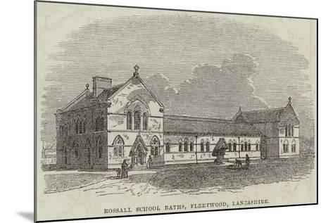 Rossall School Baths, Fleetwood, Lancashire--Mounted Giclee Print