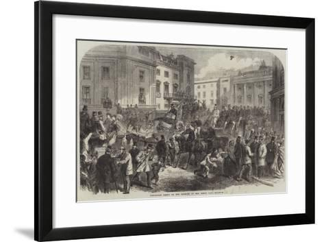 Piccadilly Circus on the Morning of the Derby Day--Framed Art Print