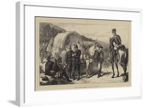 Wounded German Soldiers on their Way to the Rear--Framed Art Print