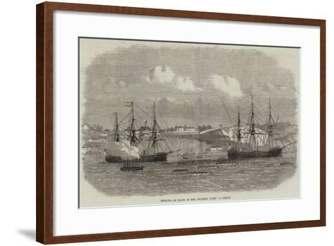 Regatta of Boats of the Channel Fleet at Lisbon--Framed Art Print