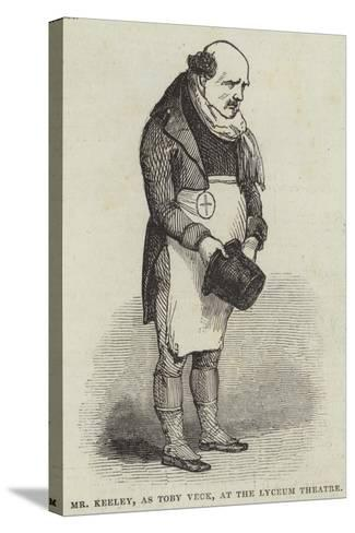 Mr Keeley, as Toby Veck, at the Lyceum Theatre--Stretched Canvas Print