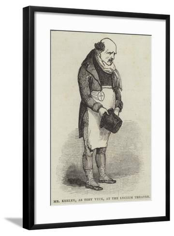 Mr Keeley, as Toby Veck, at the Lyceum Theatre--Framed Art Print