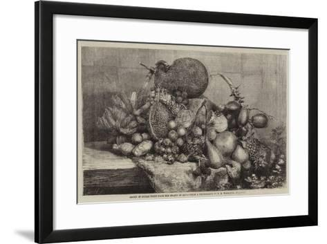 Group of Indian Fruit from the Island of Java--Framed Art Print