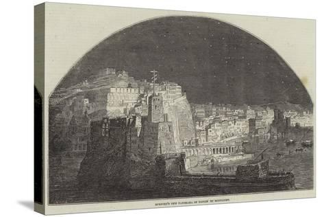 Burford's New Panorama of Naples by Moonlight--Stretched Canvas Print