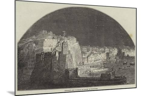Burford's New Panorama of Naples by Moonlight--Mounted Giclee Print
