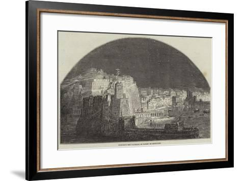 Burford's New Panorama of Naples by Moonlight--Framed Art Print