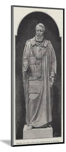 Statue of the Late Lord Iddesleigh at Exeter--Mounted Giclee Print