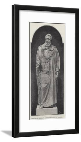Statue of the Late Lord Iddesleigh at Exeter--Framed Art Print