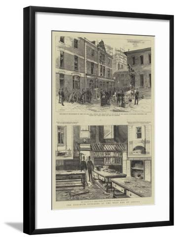 The Dynamite Outrages at the West End of London--Framed Art Print