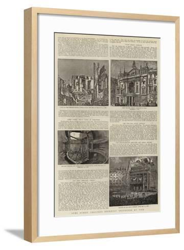 Some Other Theatres Recently Destroyed by Fire--Framed Art Print