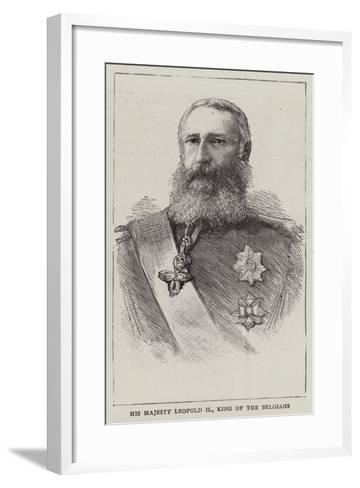His Majesty Leopold Ii, King of the Belgians--Framed Art Print