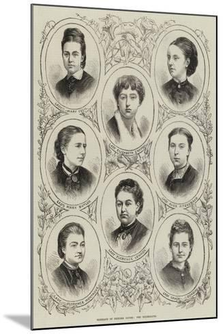 Marriage of Princess Louise, the Bridesmaids--Mounted Giclee Print