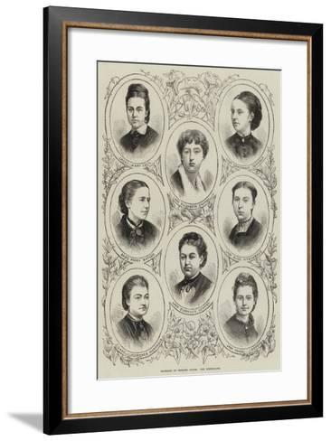 Marriage of Princess Louise, the Bridesmaids--Framed Art Print