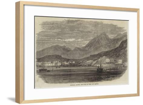 Guaymas, Mexico, the Scene of the Late Battle--Framed Art Print