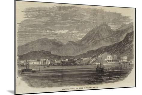 Guaymas, Mexico, the Scene of the Late Battle--Mounted Giclee Print