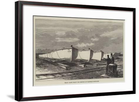 Troop Boats Ready for Service at Chatham Dockyard--Framed Art Print