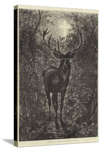 A Christmas Legend, the Stag of St Hubert--Stretched Canvas Print