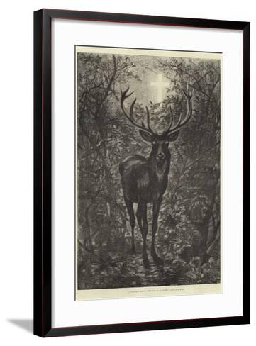 A Christmas Legend, the Stag of St Hubert--Framed Art Print