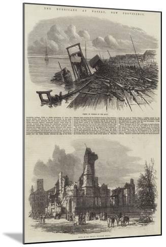 The Hurricane at Nassau, New Providence--Mounted Giclee Print