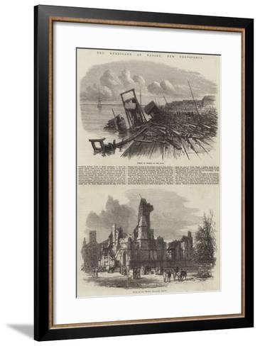 The Hurricane at Nassau, New Providence--Framed Art Print